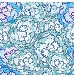 Cartoon Clouds Seamless pattern vector image