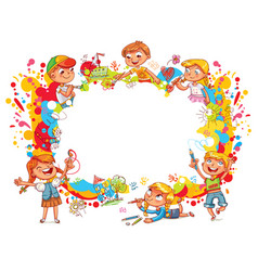children paint abstract abstract color splash vector image vector image