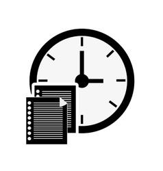 clock time icon design vector image vector image