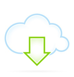 Cloud Computing Icon Download vector image