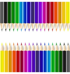 Color pencils on white background vector image