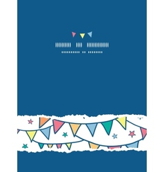 Colorful doodle bunting flags vertical torn vector