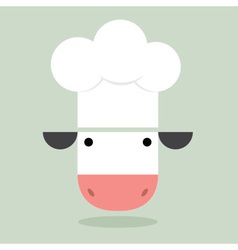 Cow Chef vector image vector image