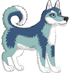 Dog husky vector