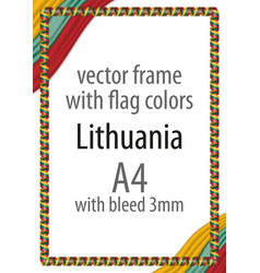 Flag v12 lithuania vector