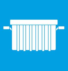 Garbage tank icon white vector
