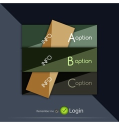 Glossy square option buttons vector
