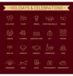 Holidays and celebrations Linear Yellow Cherry vector image vector image