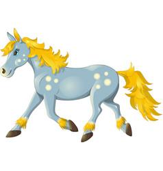 horse run vector image vector image