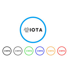 Iota ticker rounded icon vector