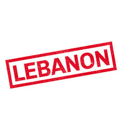 Lebanon rubber stamp vector