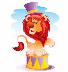 lion in circus vector image