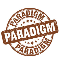 paradigm brown grunge stamp vector image vector image