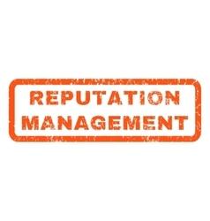 Reputation management rubber stamp vector