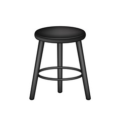 retro stool in black design vector image vector image