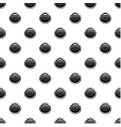 round black button pattern vector image vector image
