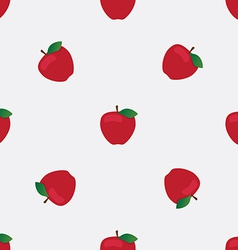 Seamless background with red apples vector image