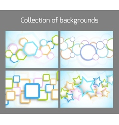 Set of colorful backgrounds vector