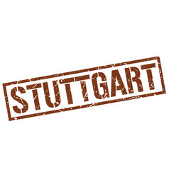 Stuttgart brown square stamp vector