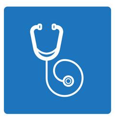 Thin line stethoscope icon vector