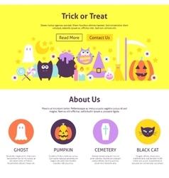 Trick or treat website design vector