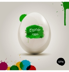 White eggs in the colored painbrush grunge vector image vector image