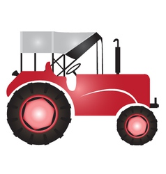 Tractor for agriculture logo vector image