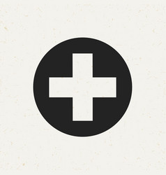 medical cross icon vector image