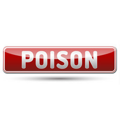 poison - glossy banner with shadow vector image