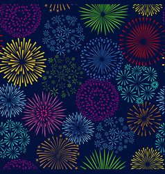 Night firework seamless pattern celebration vector