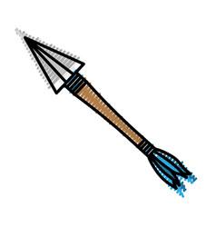Isolated sport arrow vector