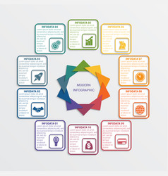 Colour triangles 10 options vector