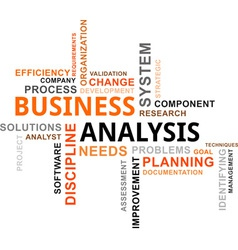 Word cloud business analysis vector