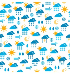 Seamless pattern of weather icons vector