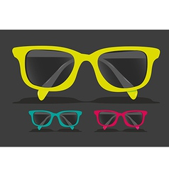 Set of colored glasses vector