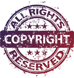 Damaged copyright stamp vector