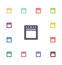 Cooker flat icons set vector
