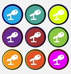 Microphone speaker icon sign nine multi-colored vector
