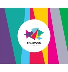Abstract element fish food logo template vector