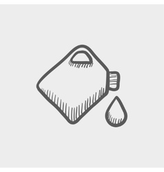 Gas container sketch icon vector