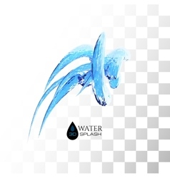 Blue 3d water splash isolated on white vector