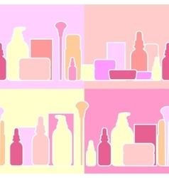 Bottles and creams vector image