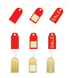 Sale and price tags vector