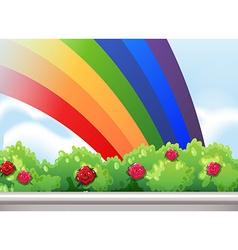 A rainbow in the sky vector