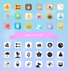 Baby toy icon set vector