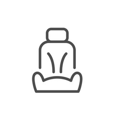 car seat line icon vector image vector image
