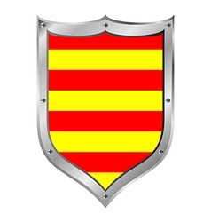 Catalonia flag button vector