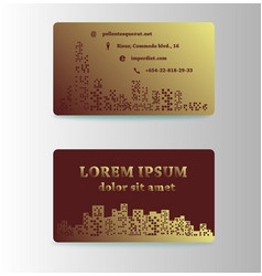 Detailed business cards for cafe and restaurant vector