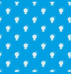 Fire alarm pattern seamless blue vector