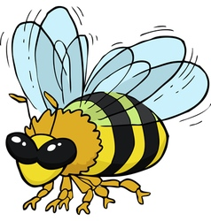 flying bee vector image